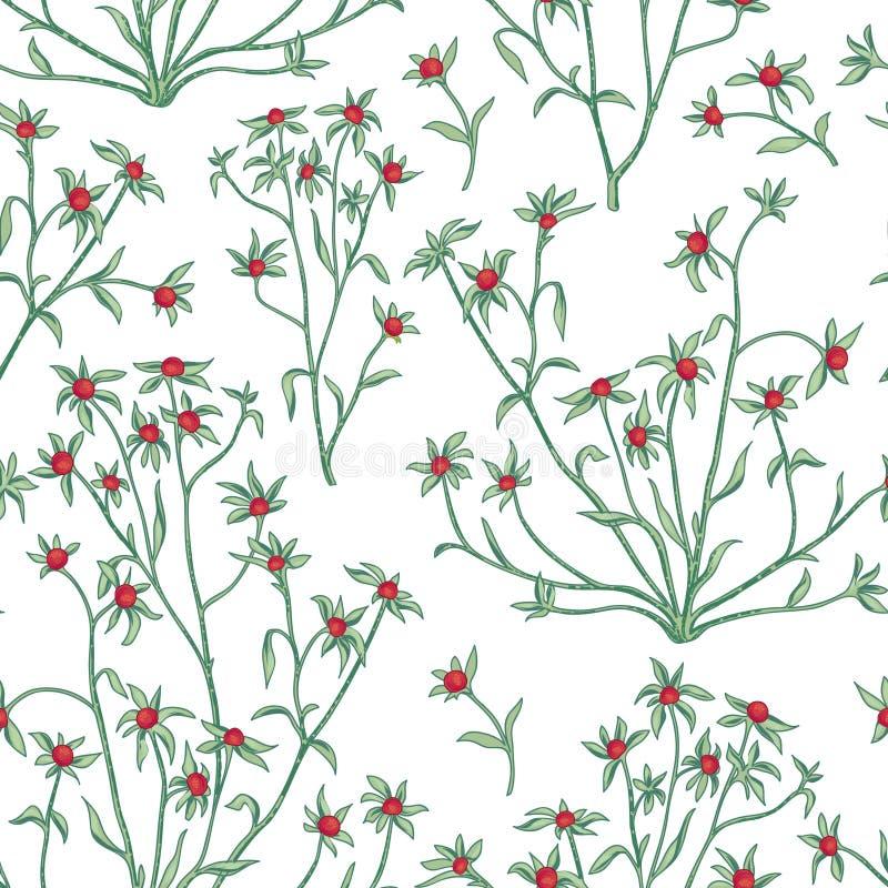 Configuration sans joint florale Fond de fleur Papier peint W de Flourish illustration stock