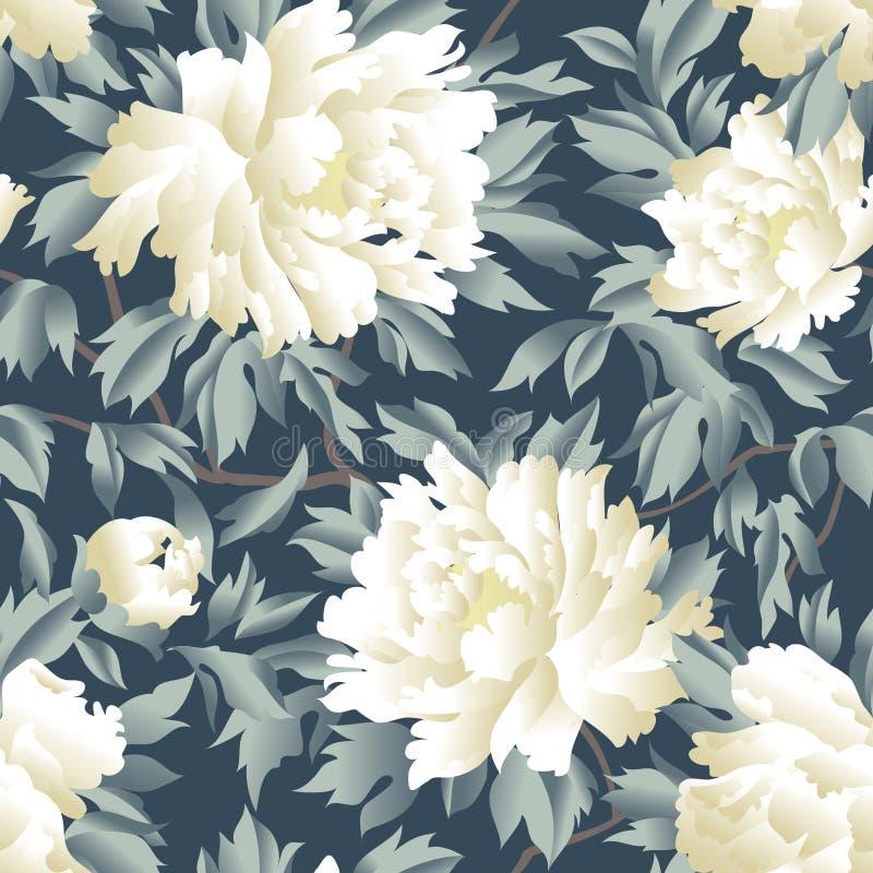 Configuration sans joint florale Fond de jardin de Flourish F fantastique illustration libre de droits
