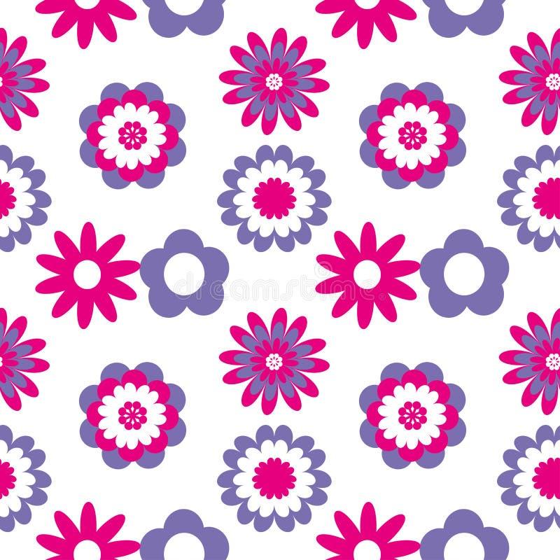 Configuration sans joint florale Illustration de vecteur avec les fleurs abstraites illustration de vecteur
