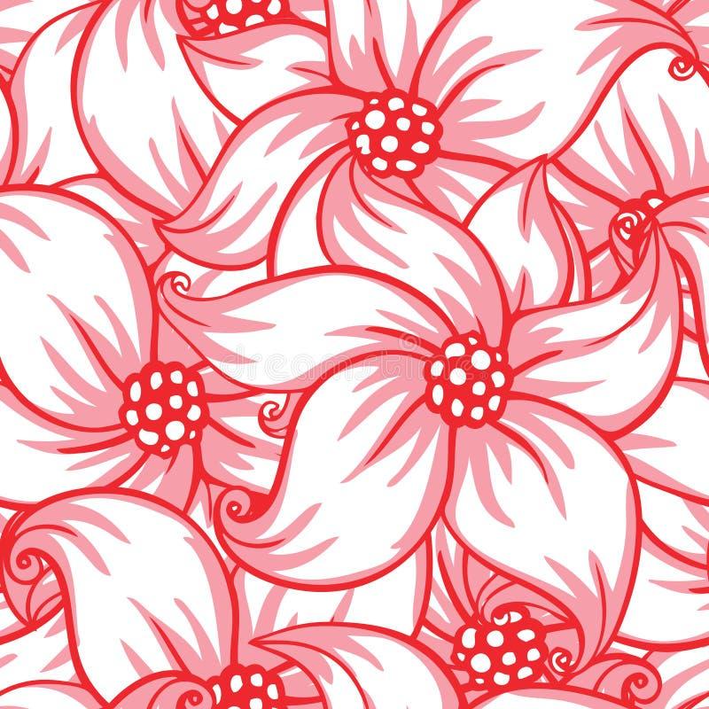 Configuration sans joint florale mignonne illustration de vecteur