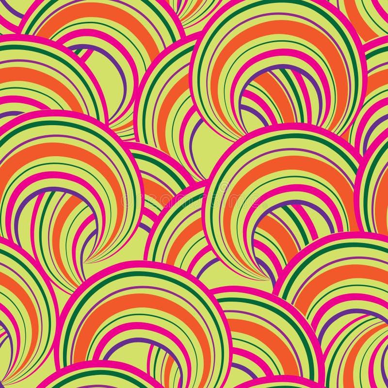 Configuration sans joint géométrique abstraite Backgroun d'ornamental de bulle illustration stock