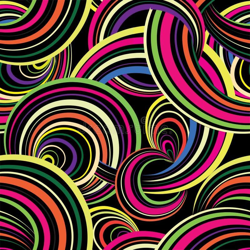 Configuration sans joint géométrique abstraite Backgroun d'ornamental de bulle illustration libre de droits