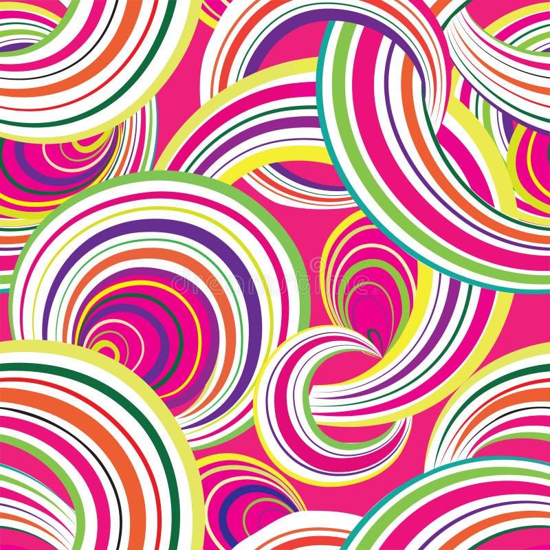 Configuration sans joint géométrique abstraite Backgroun d'ornamental de bulle illustration de vecteur