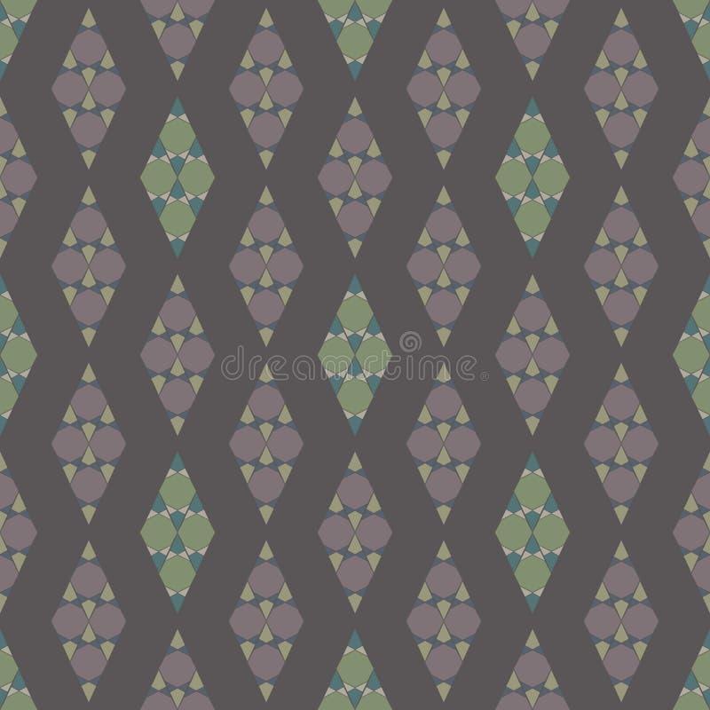 Configuration sans joint géométrique abstraite Conception à la mode de mosaïque illustration de vecteur