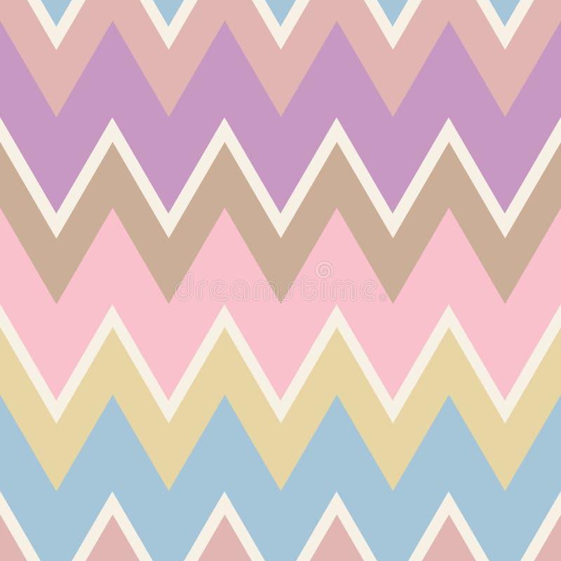 Configuration sans joint géométrique abstraite Style aztèque avec la triangle et la ligne modèle tribal de Navajo RP géométriques illustration stock