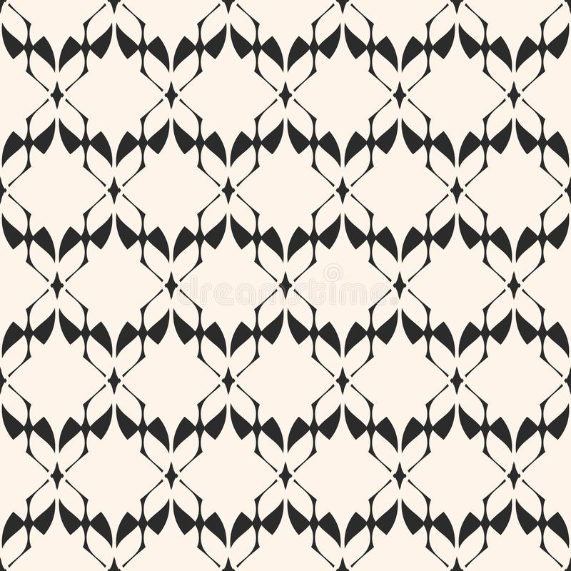 Configuration sans joint géométrique abstraite Texture élégante de dentelle Motif traditionnel illustration libre de droits