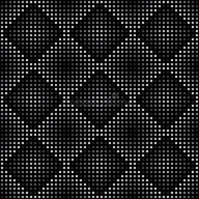 Configuration sans joint géométrique de vecteur Répétition de la gradation carrée abstraite dans noir et gris illustration libre de droits