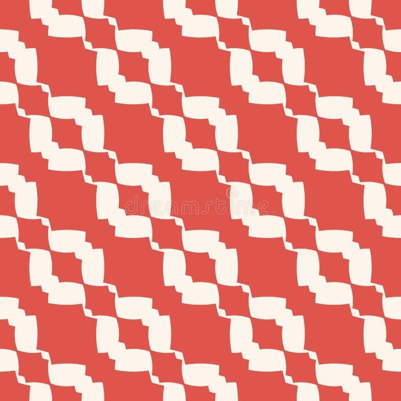 Configuration sans joint géométrique de vecteur Texture abstraite d'ornement avec des formes incurvées illustration libre de droits