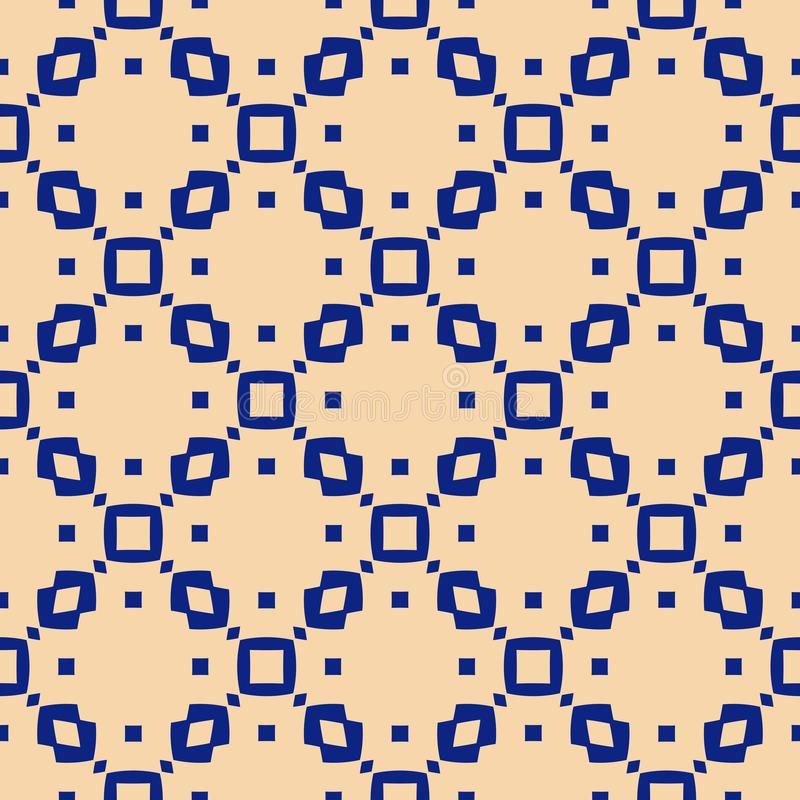 Configuration sans joint g?om?trique abstraite de vecteur Texture bleu-foncé et jaune simple illustration de vecteur