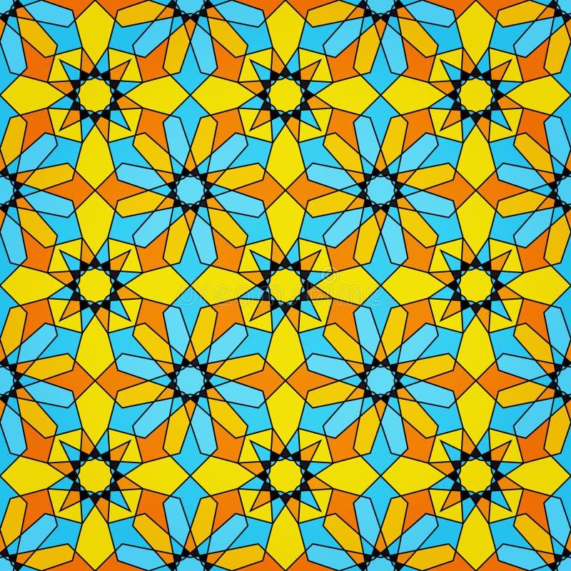 Configuration sans joint islamique en verre souillé illustration stock