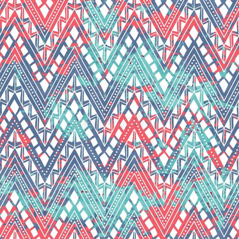 Configuration sans joint lumineuse Motifs ethniques et tribals Texture de bl illustration de vecteur