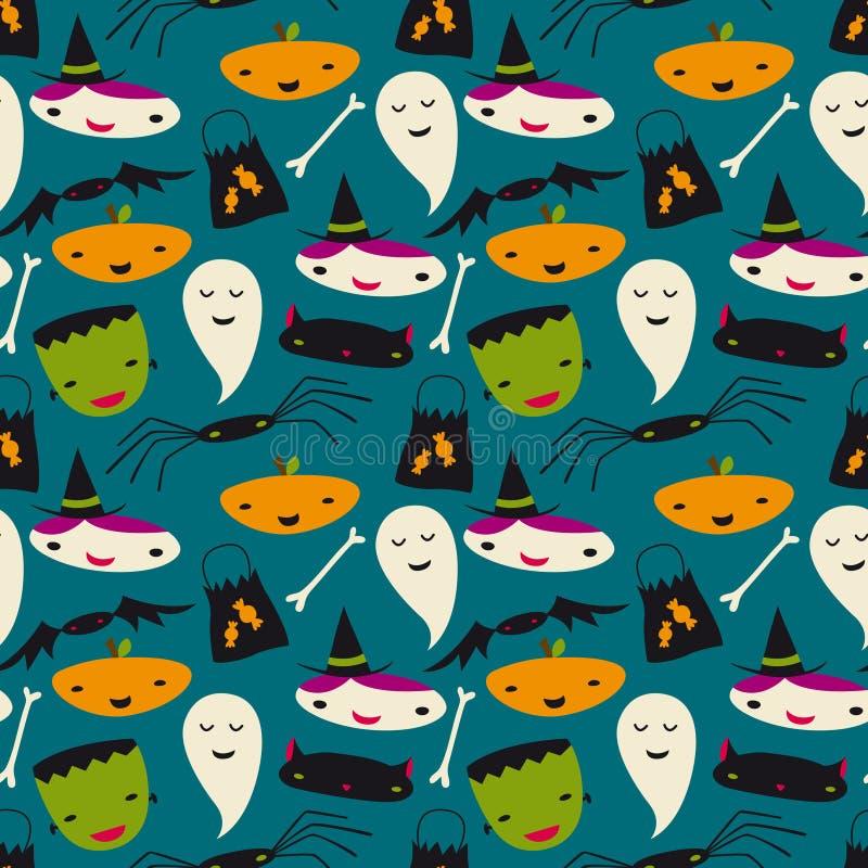 Configuration sans joint mignonne de vecteur de Halloween illustration stock