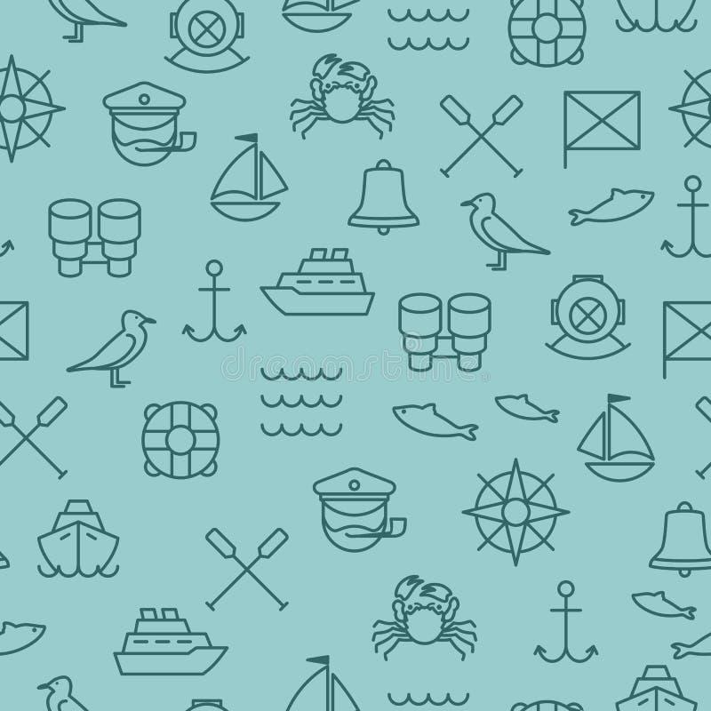 Configuration sans joint nautique illustration stock