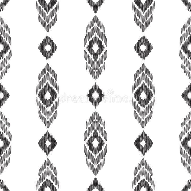 Configuration sans joint noire et blanche illustration de vecteur