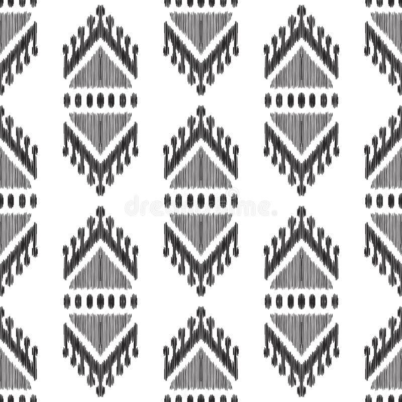 Configuration sans joint noire et blanche illustration stock