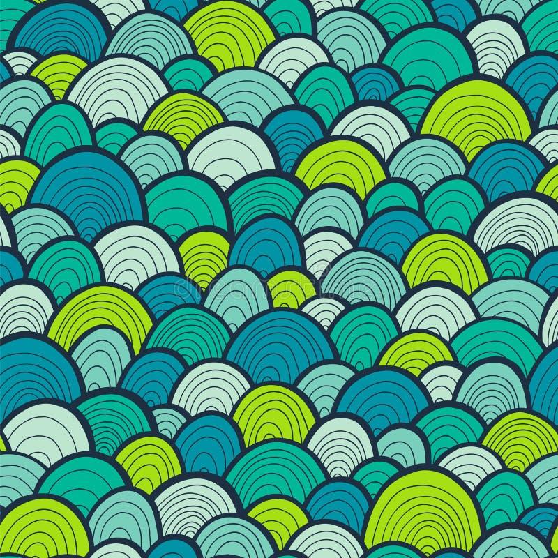 Configuration sans joint ondulée abstraite illustration libre de droits