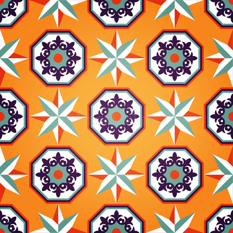 Configuration sans joint orange artistique illustration stock