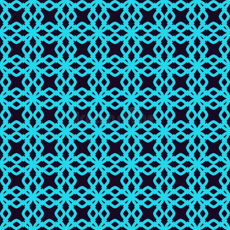 Configuration sans joint Ornement des lignes et des boucles Fond abstrait lin?aire illustration libre de droits