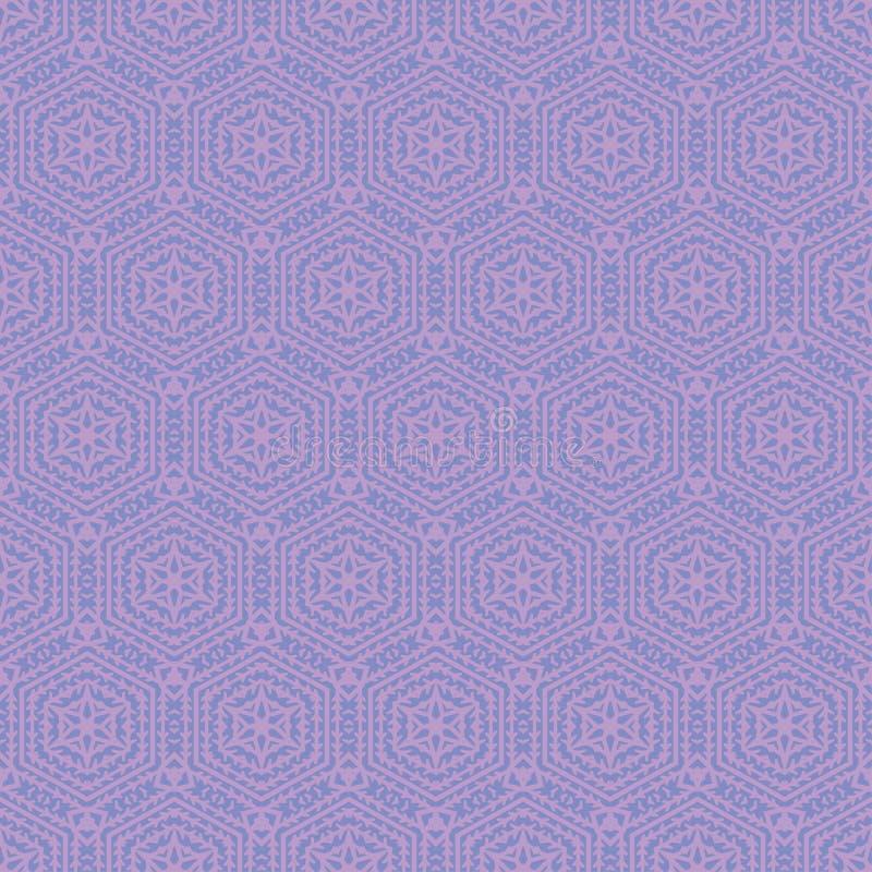 Configuration sans joint ornementale Illustration de vecteur Forme d'hexagone Fond de grille Dessin géométrique Texture abstraite illustration stock