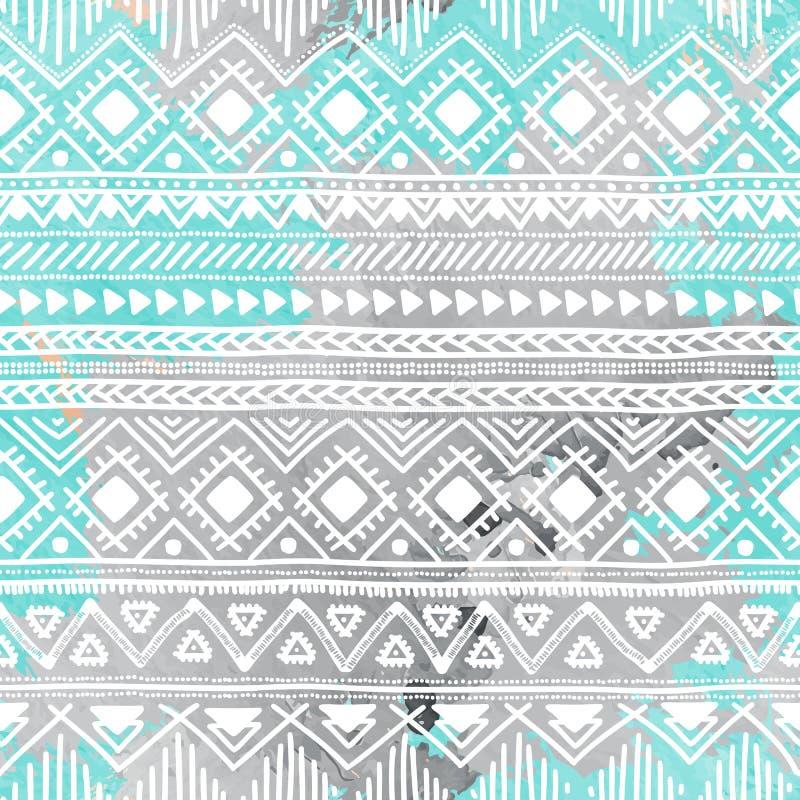 Configuration sans joint Rayures horizontales géométriques Ethnique et triba illustration stock