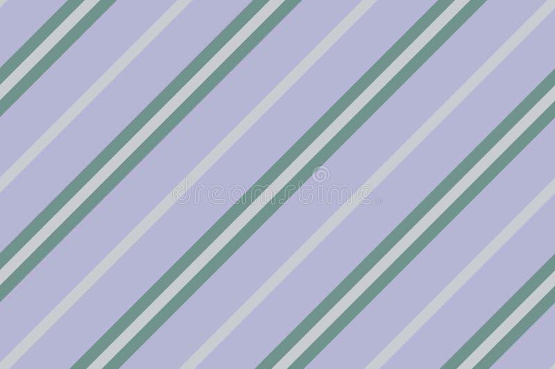 Configuration sans joint Rayures vertes sur le fond violet Modèle diagonal rayé illustration stock