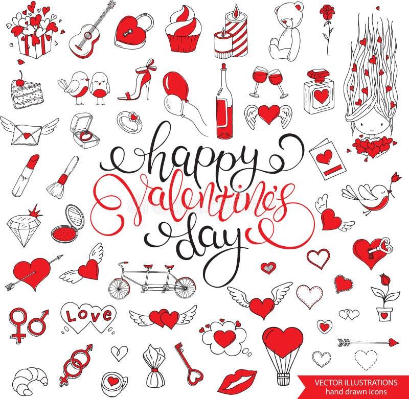 Configuration sans joint romantique Jour du `s de Valentine illustration libre de droits