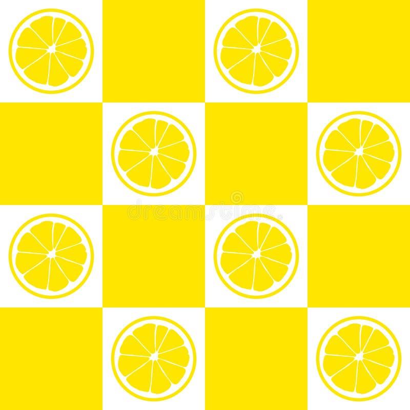 Configuration sans joint Tranches de citron sur le fond des places jaunes et blanches illustration libre de droits