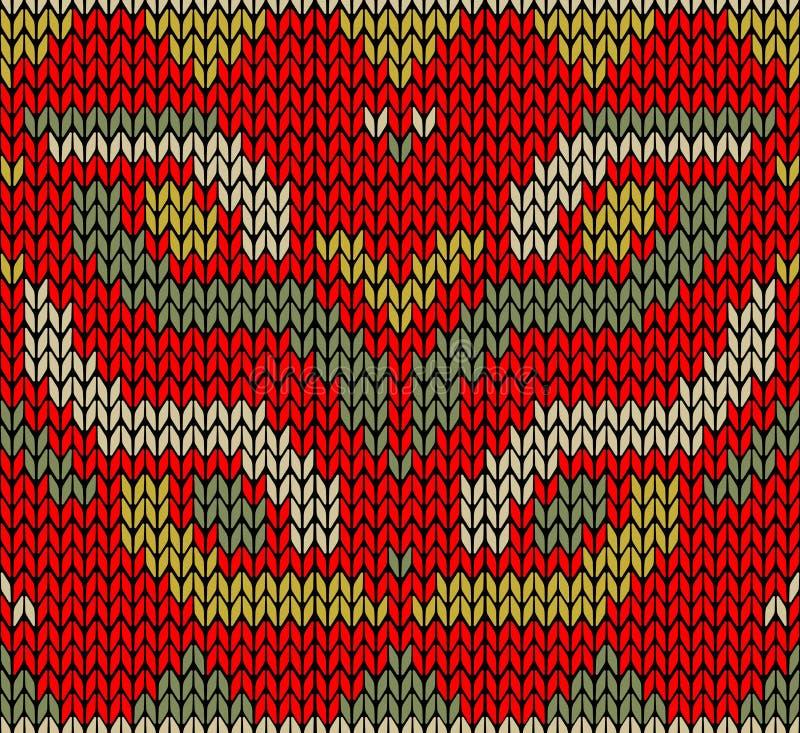 Configuration sans joint tricotée rétro par Noël illustration stock