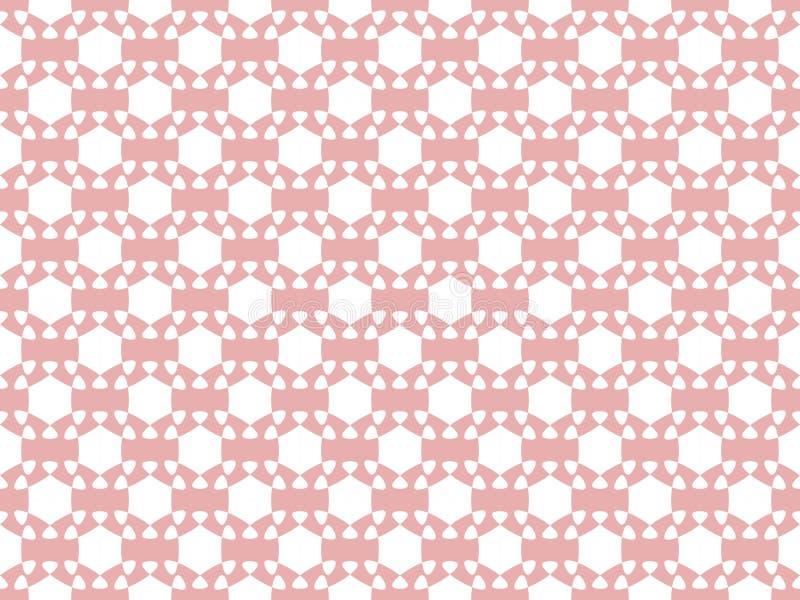 Configuration sans joint Un chiffre géométrique abstrait de blanc sur un fond rouge-clair Vecteur illustration de vecteur