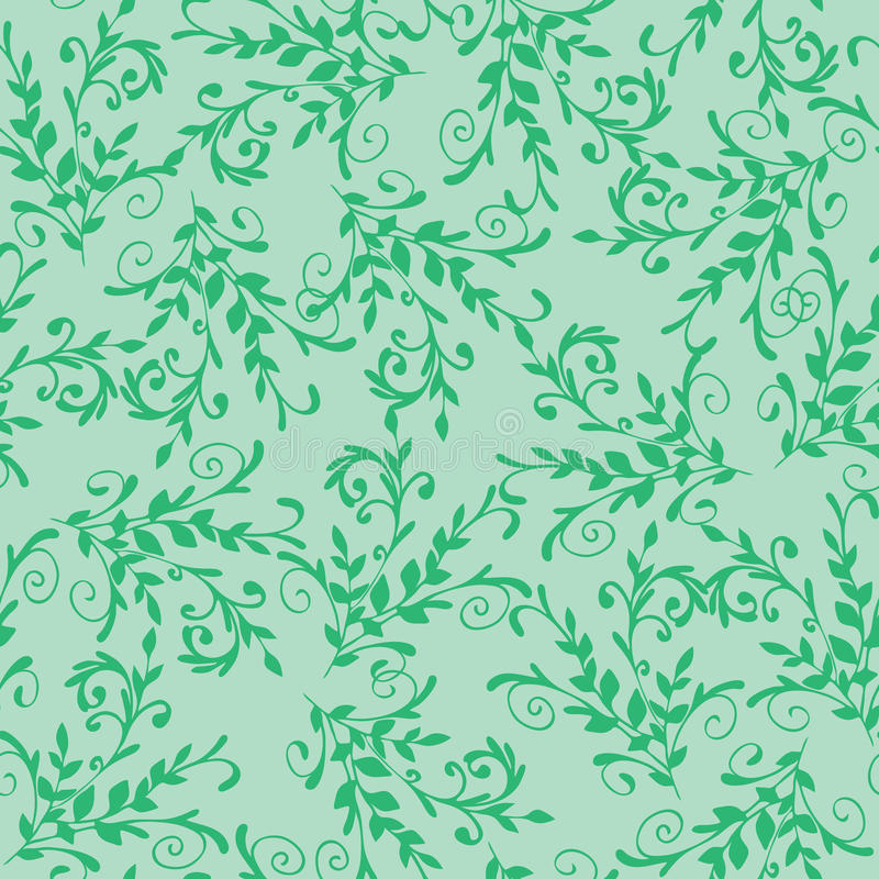 Configuration sans joint verte florale illustration de vecteur