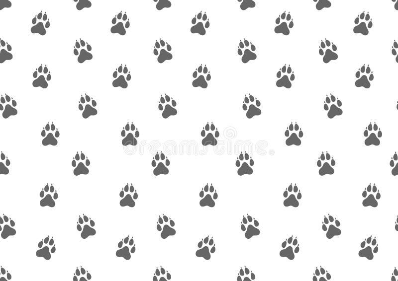 Configuration sans joint Voies animales de chien Illustration de vecteur illustration de vecteur