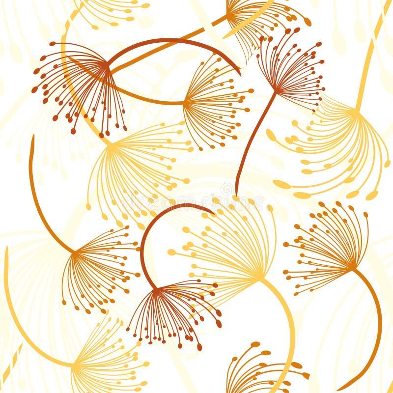 Configuration sans joint Vol des graines de pissenlit Texture de r?p?tition ?l?gante Vecteur illustration libre de droits
