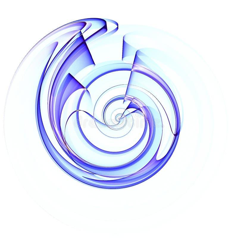 Configuration spiralée d'interpréteur de commandes interactif dans le bleu illustration libre de droits