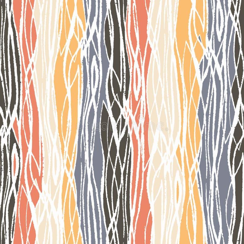 Configuration tirée par la main abstraite sans joint L coloré abstrait illustration stock