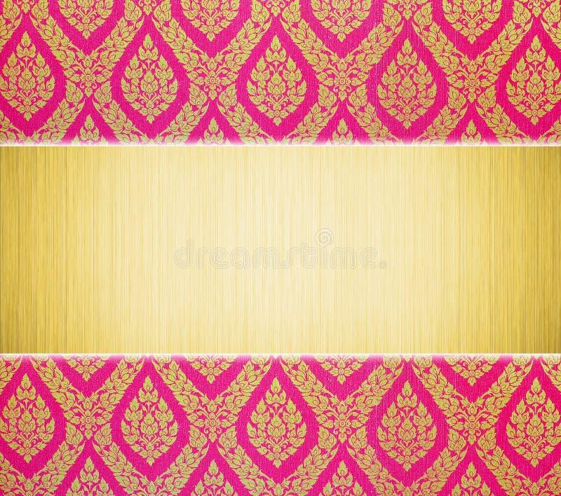 Configuration traditionnelle de plaque métallique et thaïe illustration stock