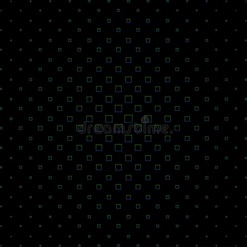 Configuration tram?e abstraite Fond noir fait de places color?es Illustration illustration de vecteur