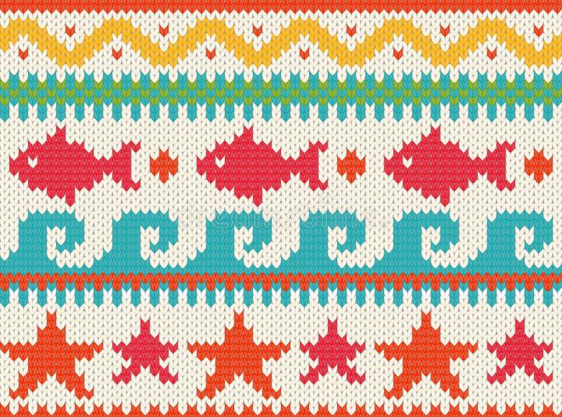 Configuration tricotée de plage illustration stock