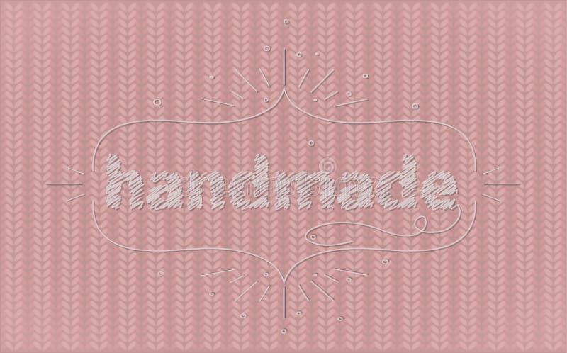 configuration tricotée par rose illustration stock
