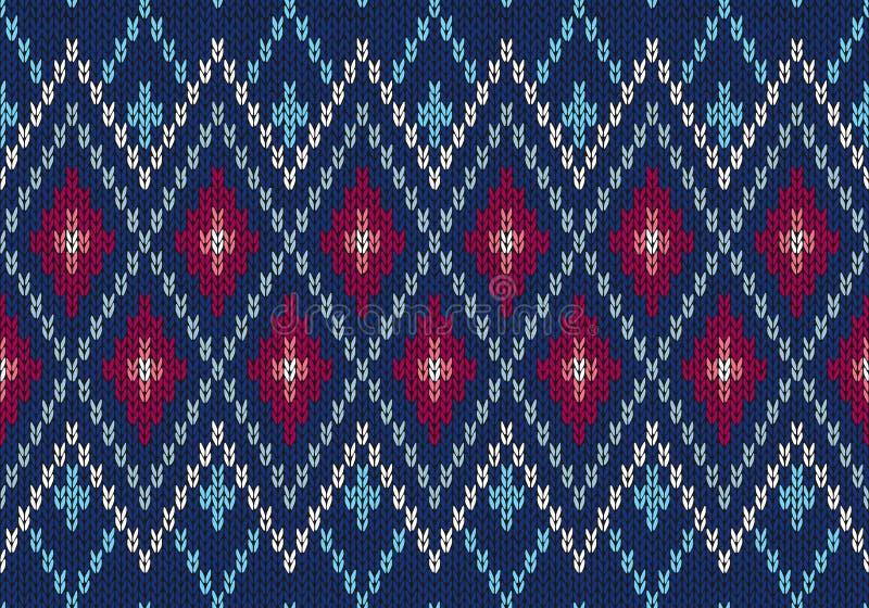 Configuration tricotée par type mâle ornemental sans joint illustration stock