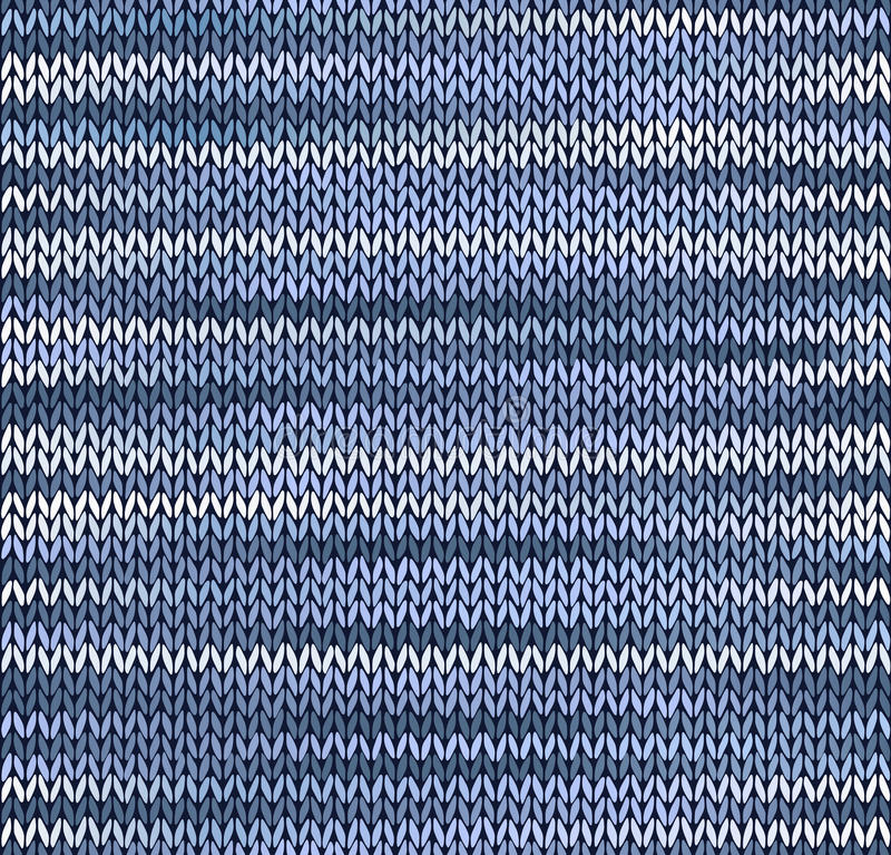 Configuration tricotée sans joint de type illustration de vecteur