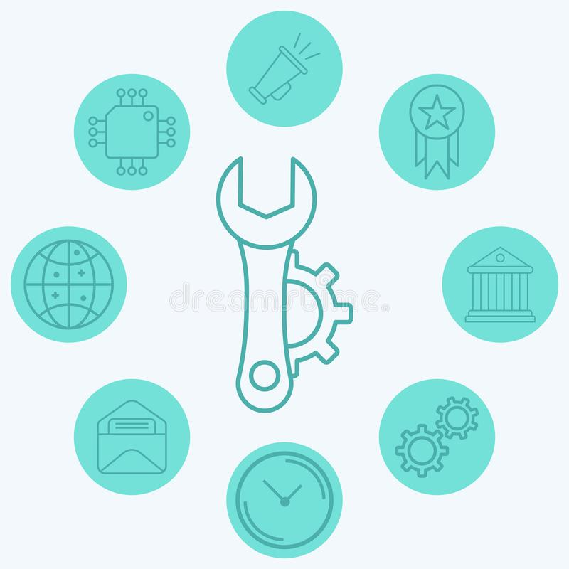 Configuration vector icon sign symbol. Icon vector, filled flat sign, solid pictogram isolated on white. Symbol, logo illustration vector illustration