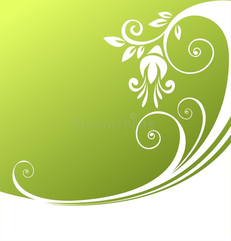 Configuration verte d'enroulement illustration libre de droits