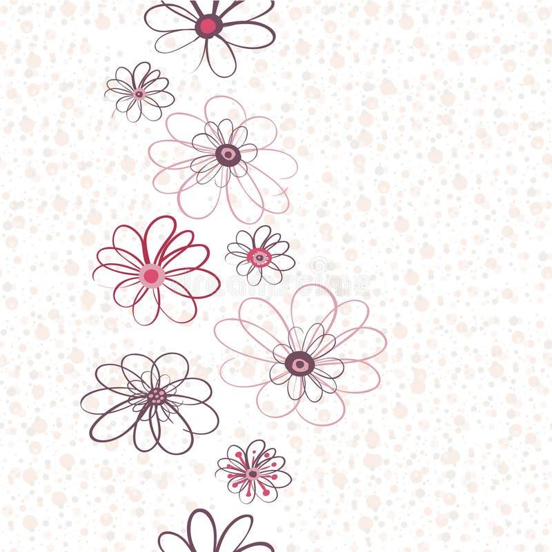 Configuration verticale florale sans joint illustration de vecteur