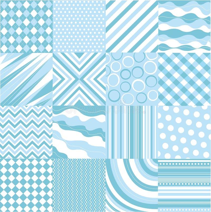 Configurations bleues sans joint avec la texture de tissu illustration de vecteur