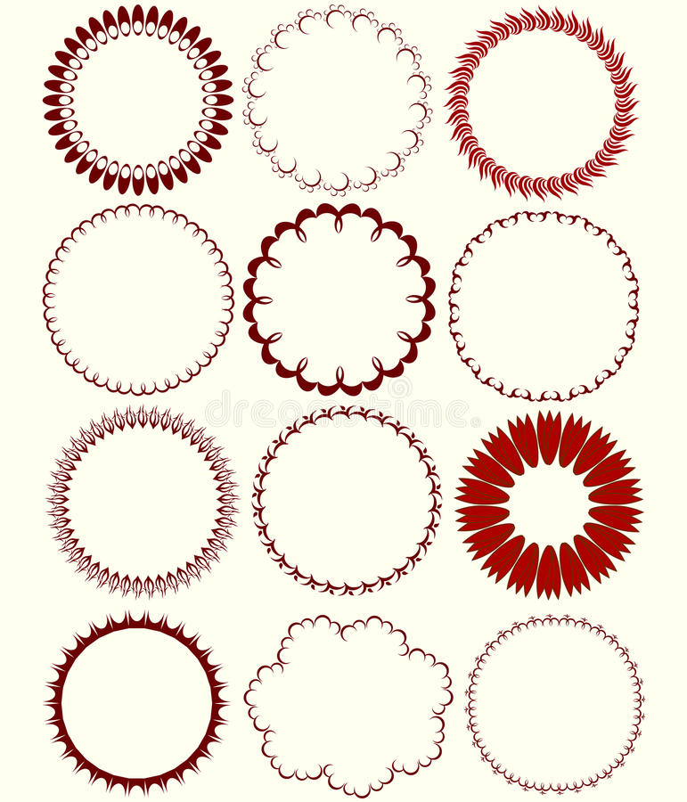 Configurations circulaires illustration stock