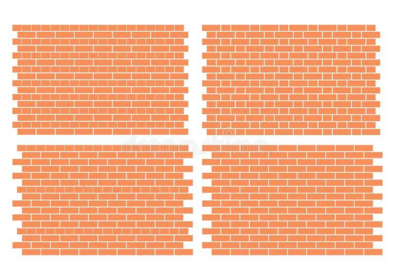 Configurations de brique illustration de vecteur