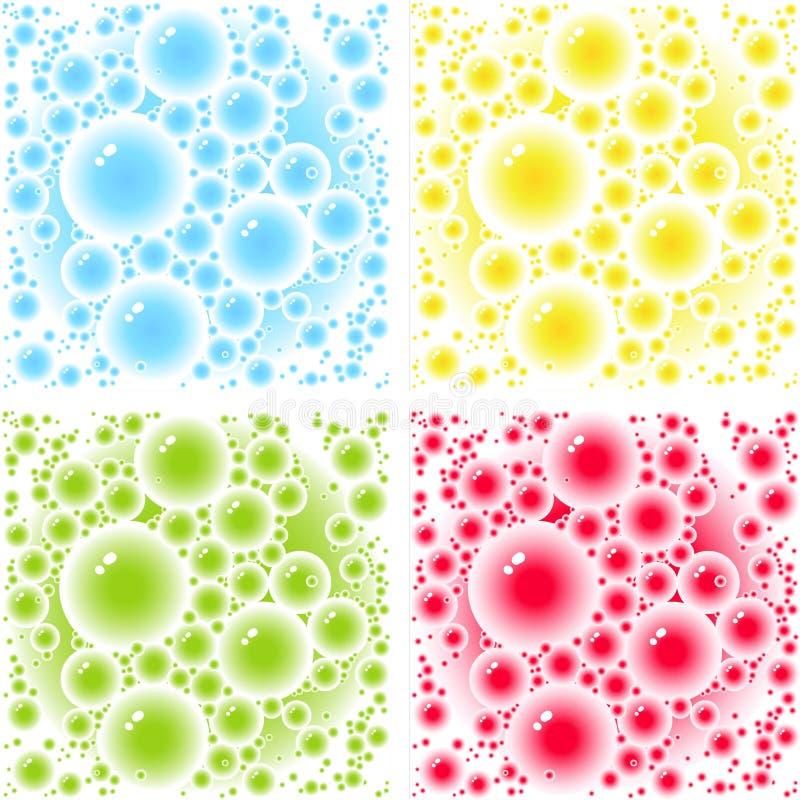 Configurations de bulles illustration libre de droits