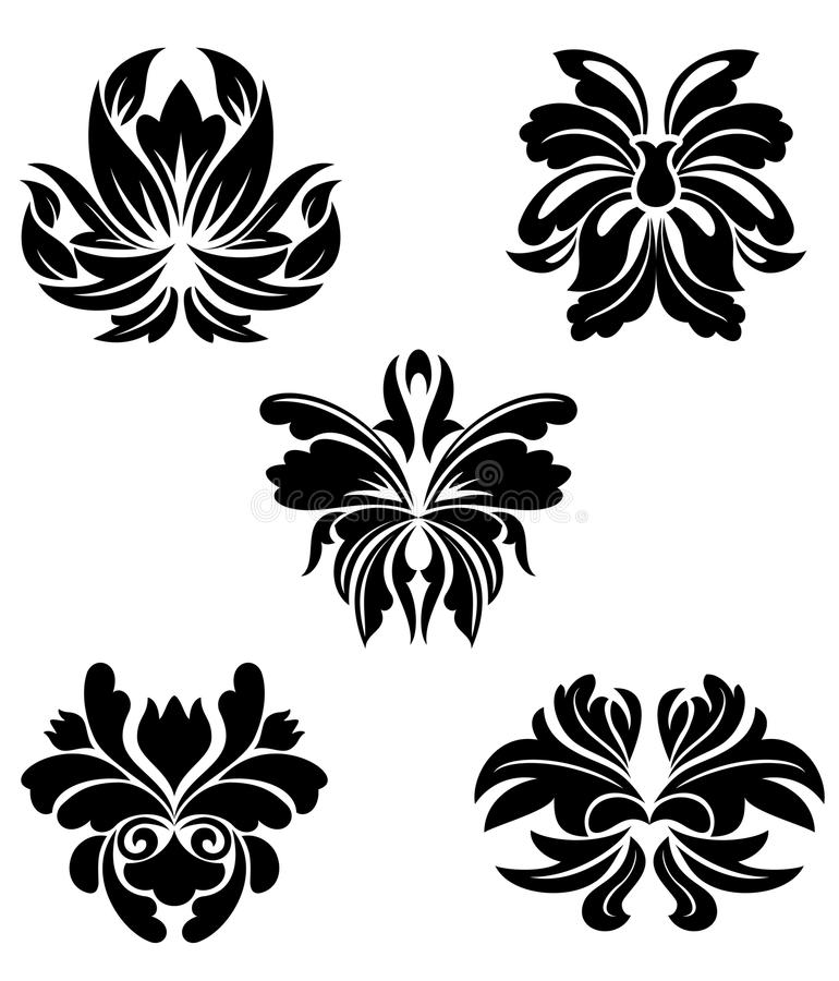 Configurations de fleur illustration stock