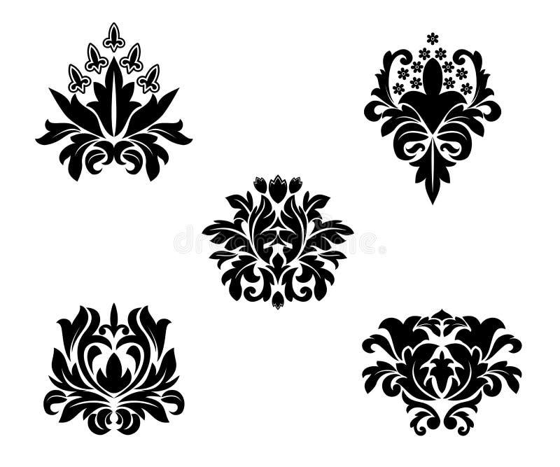 Configurations de fleur illustration stock