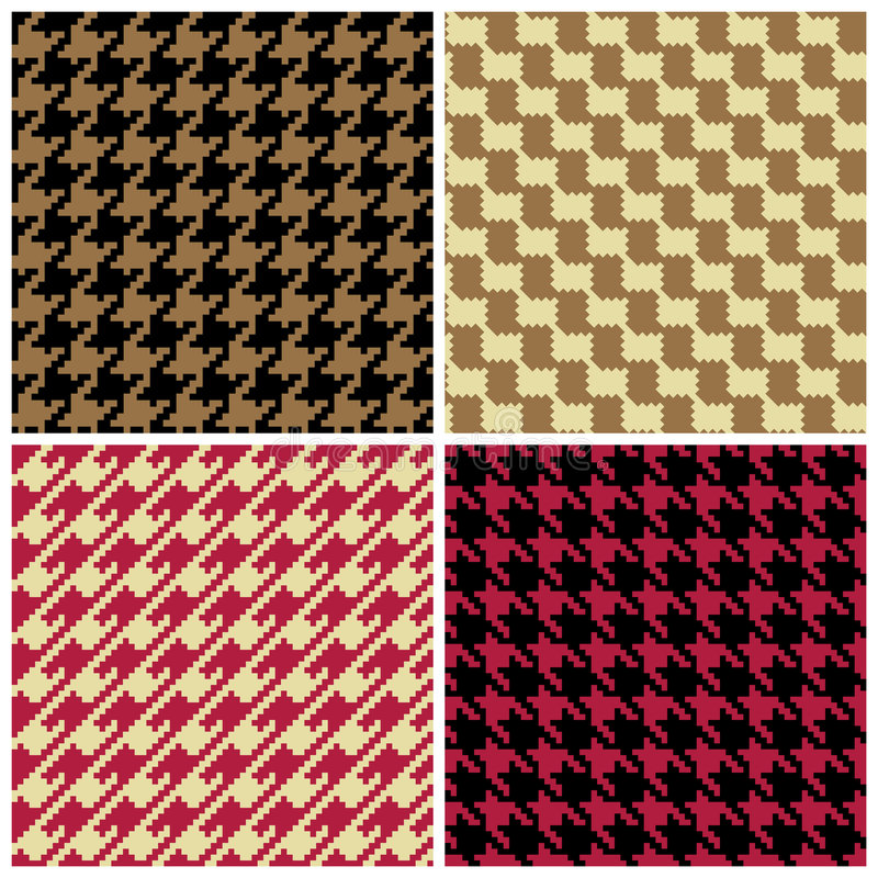 Configurations de Houndstooth de Pixel illustration stock